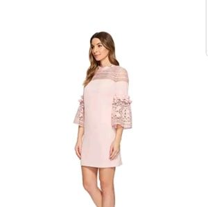 Ted Baker Lucila Lace Panel Bell Sleeve Tunic Dres